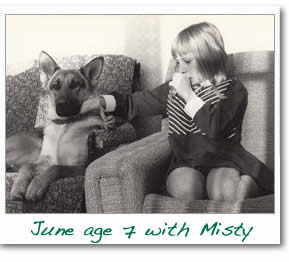 June aged 6 and Misty